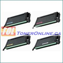 Samsung CLP-600/650 4k High Yield Compatible Toner Cartridge 4-Color Set