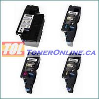 Dell 1660 Compatible Toner Cartridges 4 Color Set for Color Laser C1660W
