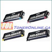 XEROX 6180 6180MFP COMPATIBLE High Yield TONER Cartridges Value pack C/M/Y/K 4-Color Set