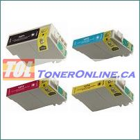 Epson T127120 -T127420 T1271-T1274  Compatible Ink Cartridge 4 Color Set for Stylus NX625 WorkForce 630