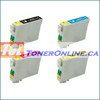 Epson T069120-T069420 (T0691-T0694) Compatible Ink Cartridge 4 color Set for Stylus NX100 WorkForce 30