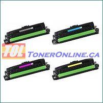 HP CE260X-CE263A Compatible Toner Cartridge 4 Color Set for Color LaserJet CP4520