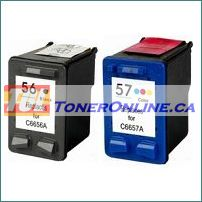HP 56/57 C9321FN Remanufactured Ink Cartridge Set for Deskjet 5550 PSC 1110