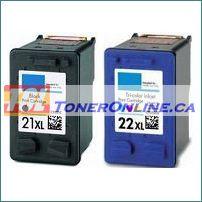 HP 21XL C9351CE, HP 22XL C9352CE Remanufactured Ink Cartridges for Deskjet 3910, 3940, D1300, D1330