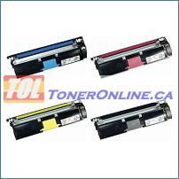 Minolta QMS 1710587-004/005/006/007 MagiColor Toner Cartridge Set for 2400/2430/2450 4 Color Set