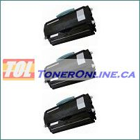 Lexmark E260A11A Black Compatible Toner Cartridge 3PK for E260D E460DN