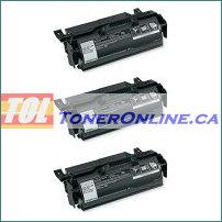 Lexmark T650H11A Black Compatible Toner Cartridge 3PK High Yield 25k for T650N T654N