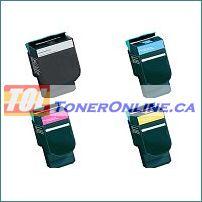 Lexmark C540H2KG C540H2CG C540H2MG C540H2YG Compatible Toner Cartridge 4 Color Set for Lexmark C540n C543dn