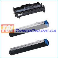 Okidata 43502301 and 43501901 Compatible 1 Drum Unit and 2 Toner cartridges Combo for Okidata B4400 B4600