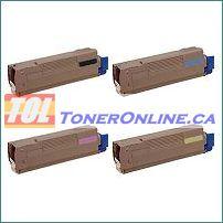 Okidata 43324469 43324468 43324467 43324466 Compatible Toner Cartridge 4 Color Set for Okidata C6000n