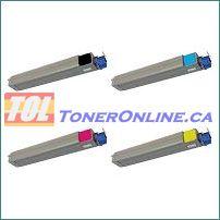 Okidata 42918904 42918903 42918902 42918901 Compatible Toner Cartridge 4 Color Set for Okidata C9600n