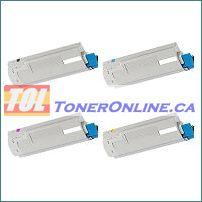 Okidata 43324404 43324403 43324402 43324401 Compatible Toner Cartridge 4 Color Set for Okidata C5500 C5650n