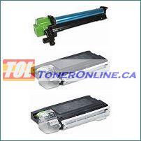 Sharp AL-100DR Compatible Drum Unit 1PK and AL-100TD Compatible Toner Cartridge 2PK for AL-1000 AL-1010