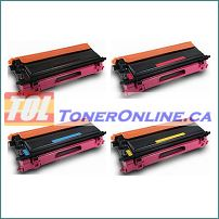 Brother TN115/TN110  TN-115 Toner Brother HL-4040CN MFC-9840CDW Compatible Toner Cartridges 4-Color Set
