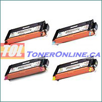 Xerox 106R01392-106R01395 High Yield Compatible Toner Cartridge 4 Color Set  for Phaser 6280 6280N