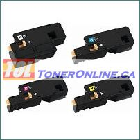 Xerox 106R01630-106R01629 High Yield Compatible Toner Cartridge 4 Color Set for Phaser 6010 WorkCentre 6015
