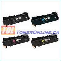 Xerox 106R01597-106R01596 High Yield Compatible Toner Cartridge 4 Color Set for Phaser 6500 WorkCentre 6505