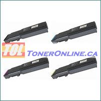 Xerox 106R02225-106R02228 4 Color Set High Yield Compatible Toner Cartridge for Phaser 6600, 6600N
