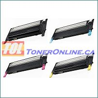 Samsung CLP-310 CLP-315 CLX-3170FN High Yield Compatible Toner Cartridges 4-Color Set