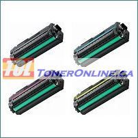 Samsung CLT-506L/CLT-506S Compatible High Yield Toner Cartridge 4 Color Set for CLP-680ND, CLP-680NW