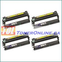 Brother DR210CL / DR-210CL Compatible Drum Units (Black, Cyan, Magenta, Yellow) 1 Set for HL-3040CN MFC-9120CN