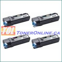 Dell 331-0719 - 331-0718 High Yield Compatible Toner Cartridge 4 Color Set for Color Laser 2150cdn Multi-Function 2155cdn