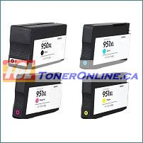 HP 950XL 951XL Remanufactured Ink Cartridge Set for OfficeJet Pro 8100 8600