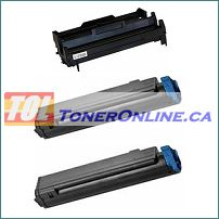 Okidata 43979001 and 43979101 Compatible 1 Drum Unit and 2 Toner cartridges Combo for Okidata MB460 B410