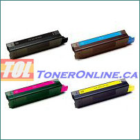 Okidata 42127401-42127404 High Yield Compatible Toner Cartridges 4 Color Set for C5100n C5450